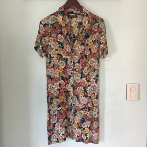 Reformation Floral Button Up Shirt Dress - Size 8